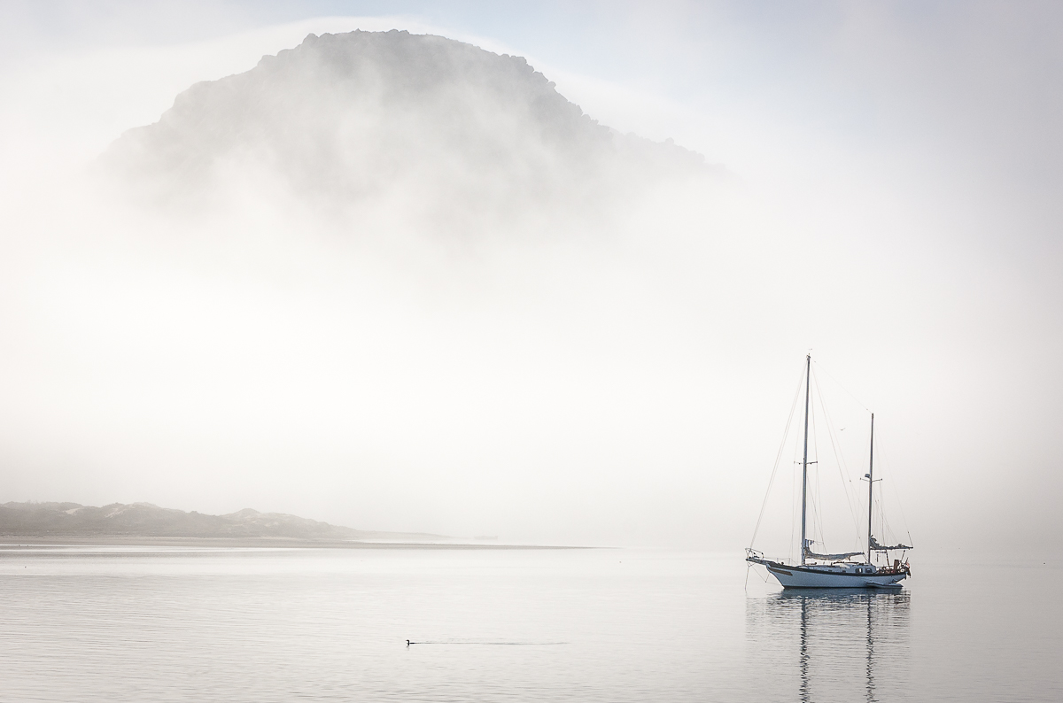 Visual appeal - sailboat in fog