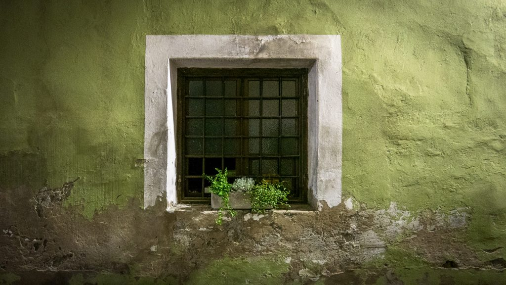 Chiusa, Italy - window at night