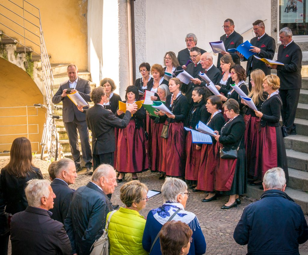 Chiusa, Italy - Choir singing