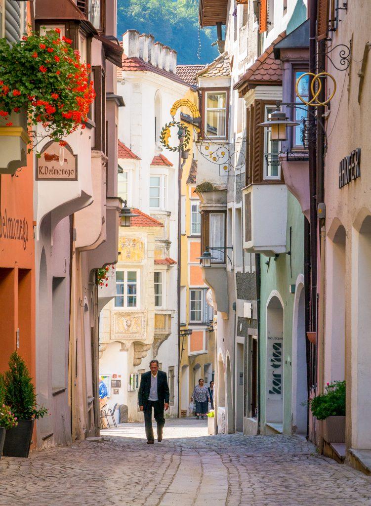 Chiusa, Italy - Main shopping street