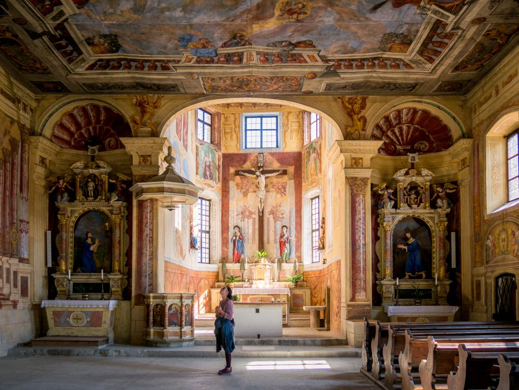 Chiusa, Italy - Inside the Church of the Holy Cross
