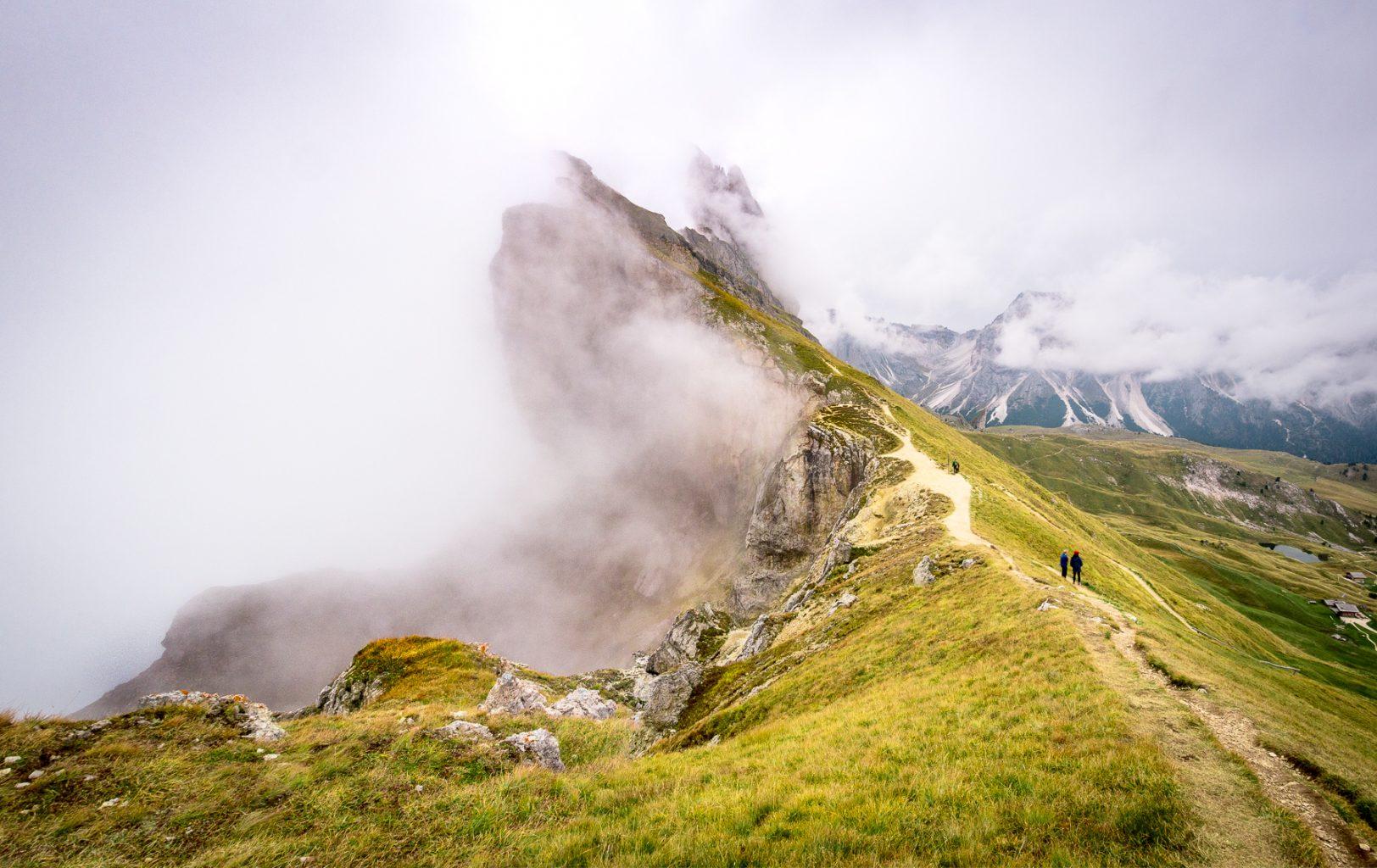 Dolomites in fog