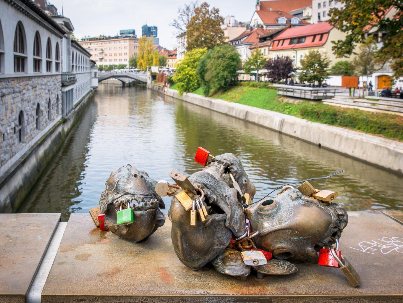 Sculptures on Butcher's Bridge