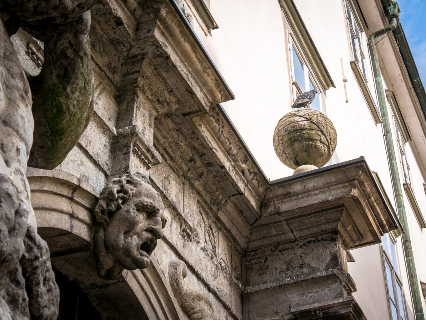 Seminary Library entrance detail