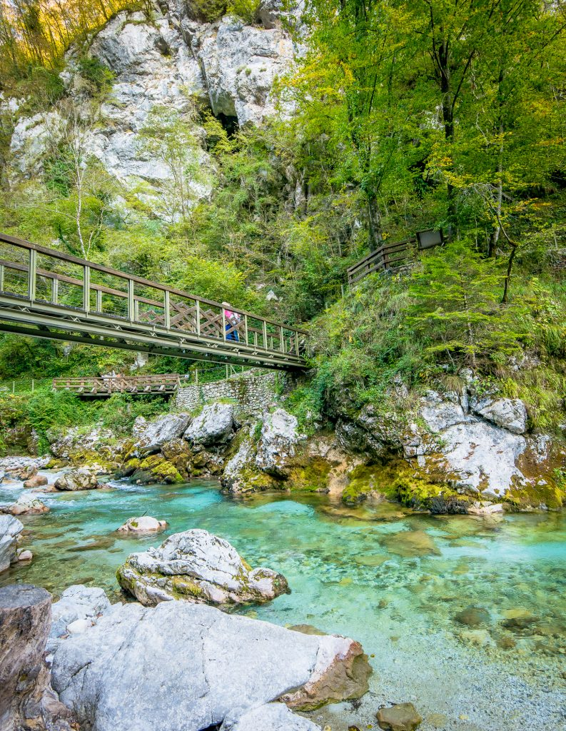 Tolmin Gorge bridge