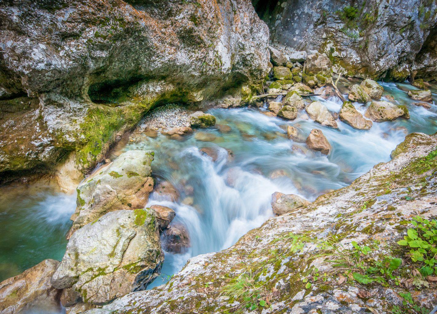 Tolmin Gorge river