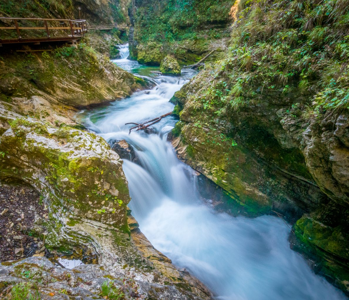 Vintgar Gorge river