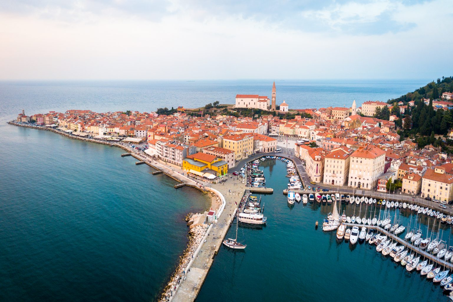 Piran from the air