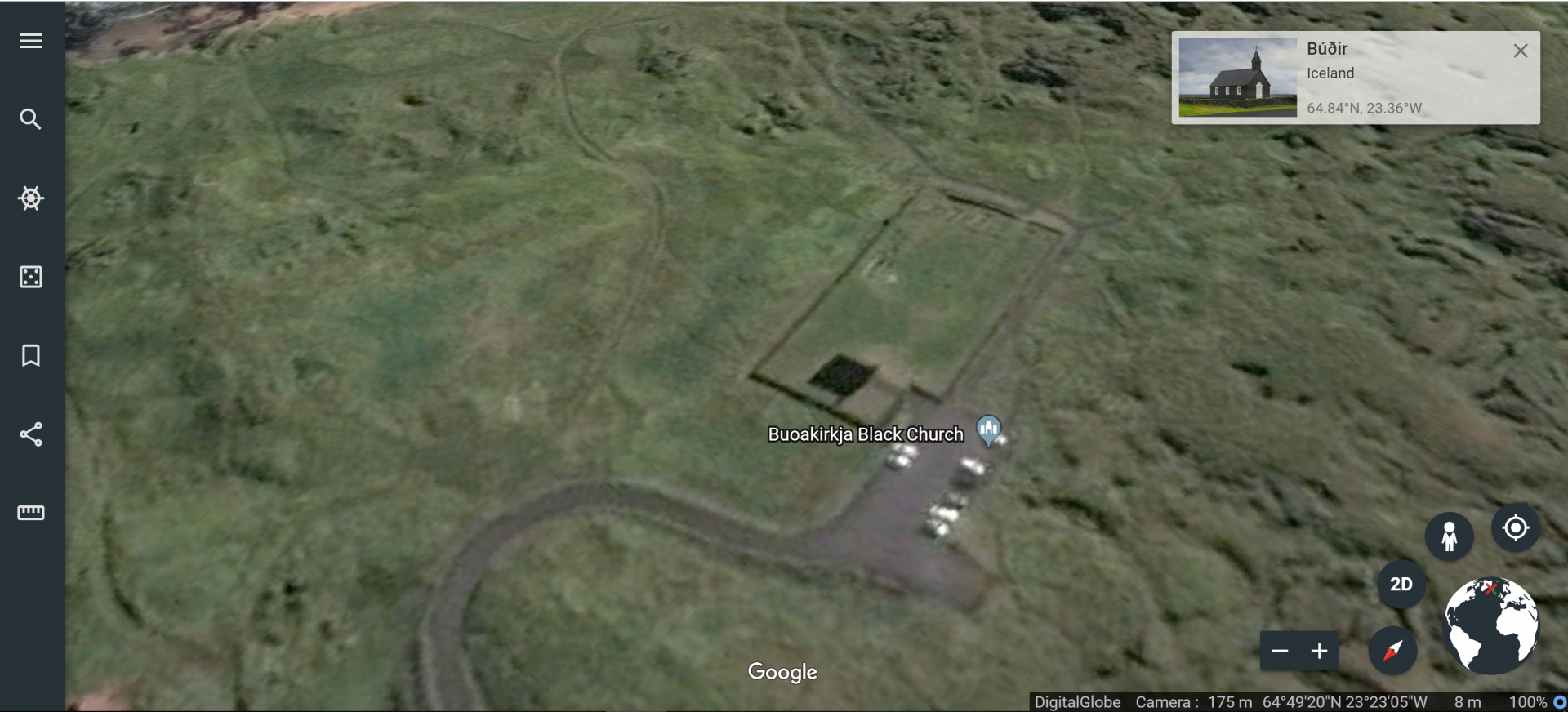 Google Earth of Budir