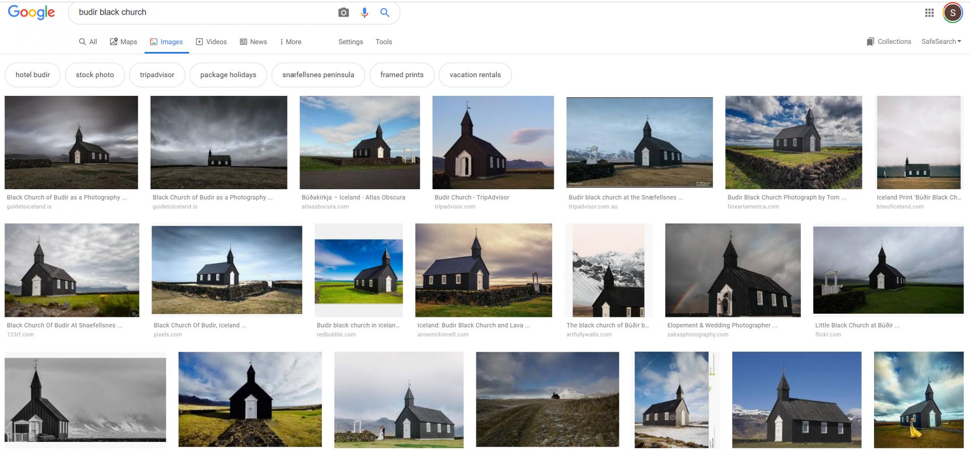 Google images of Budir