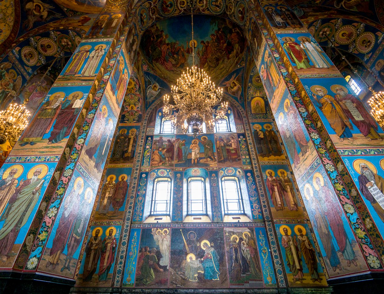 Church of the Savior on Spilled Blood side wall