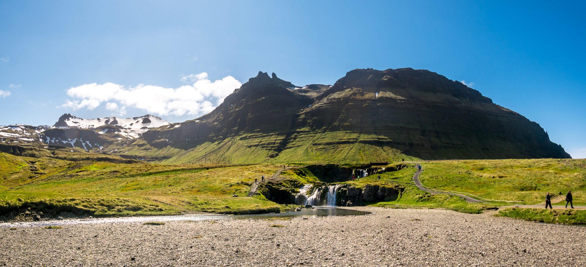 Kirkjufellsfoss from parking lot