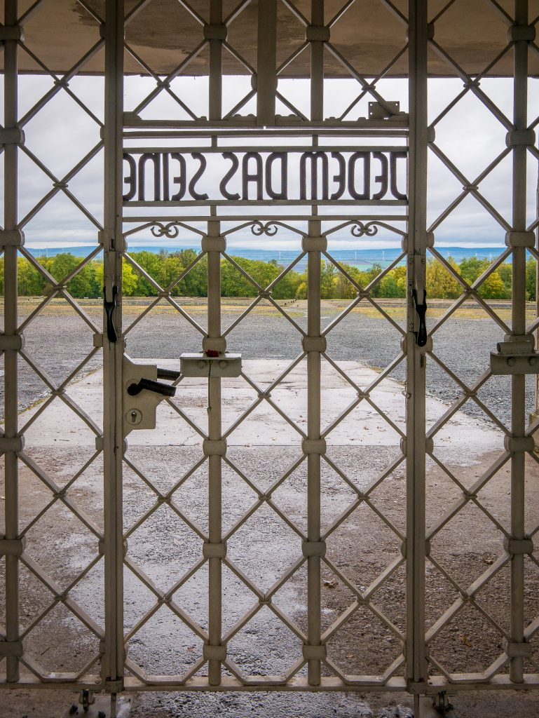 Entry gate to Buchenwald