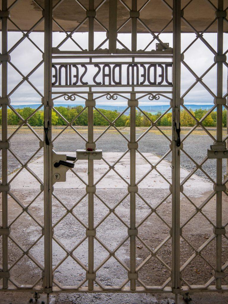 Entry gate to Buchenwald