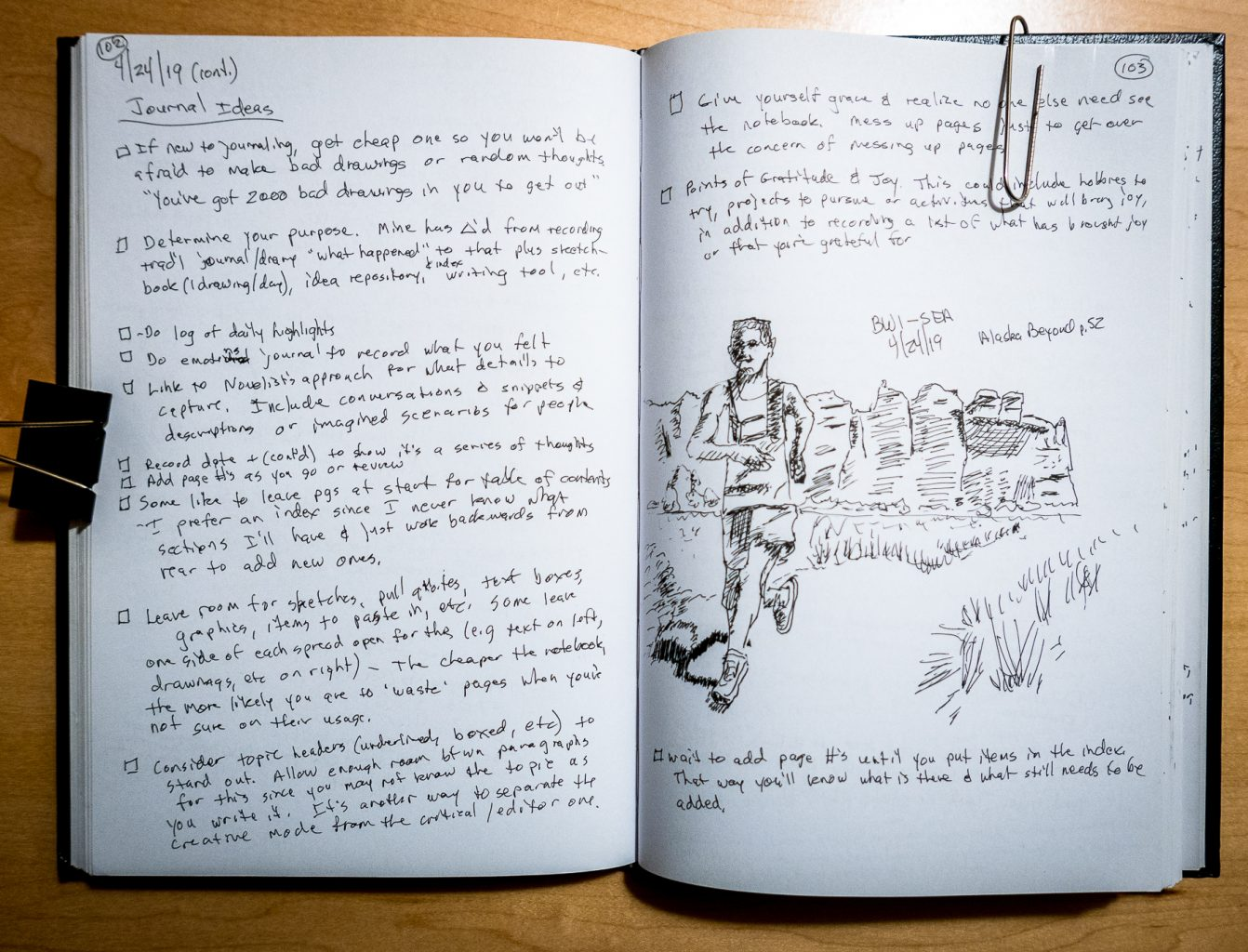 Daily entry journal