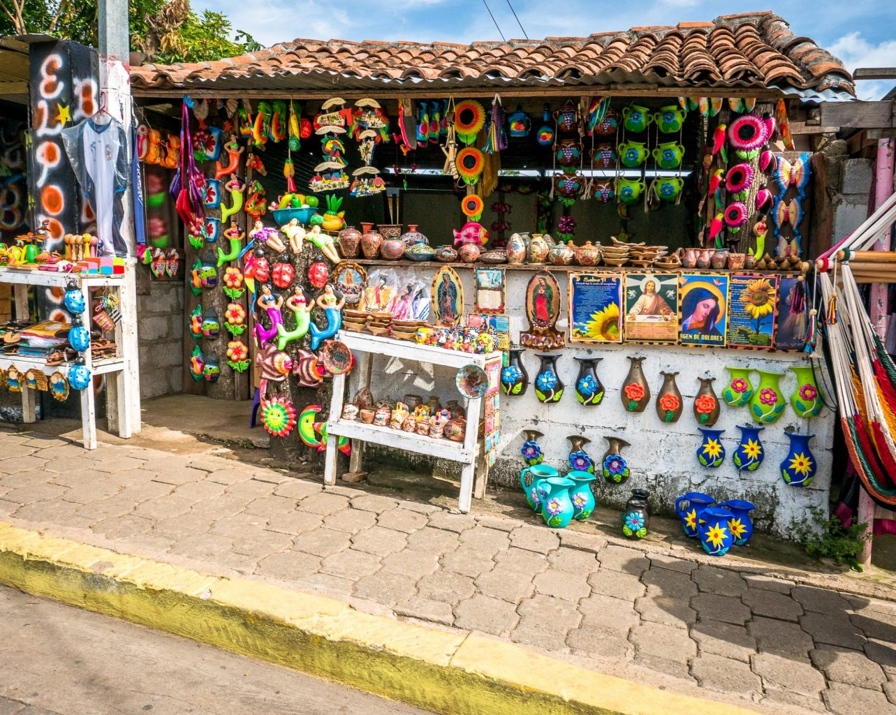 Souvenir stand in Nicaragua