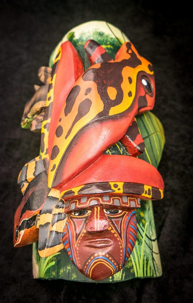 Carved mask from Costa Rica