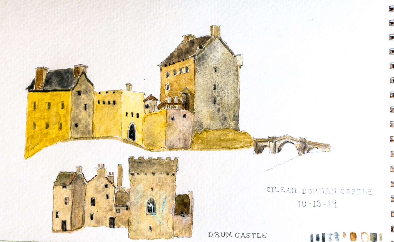 Watercolor castles