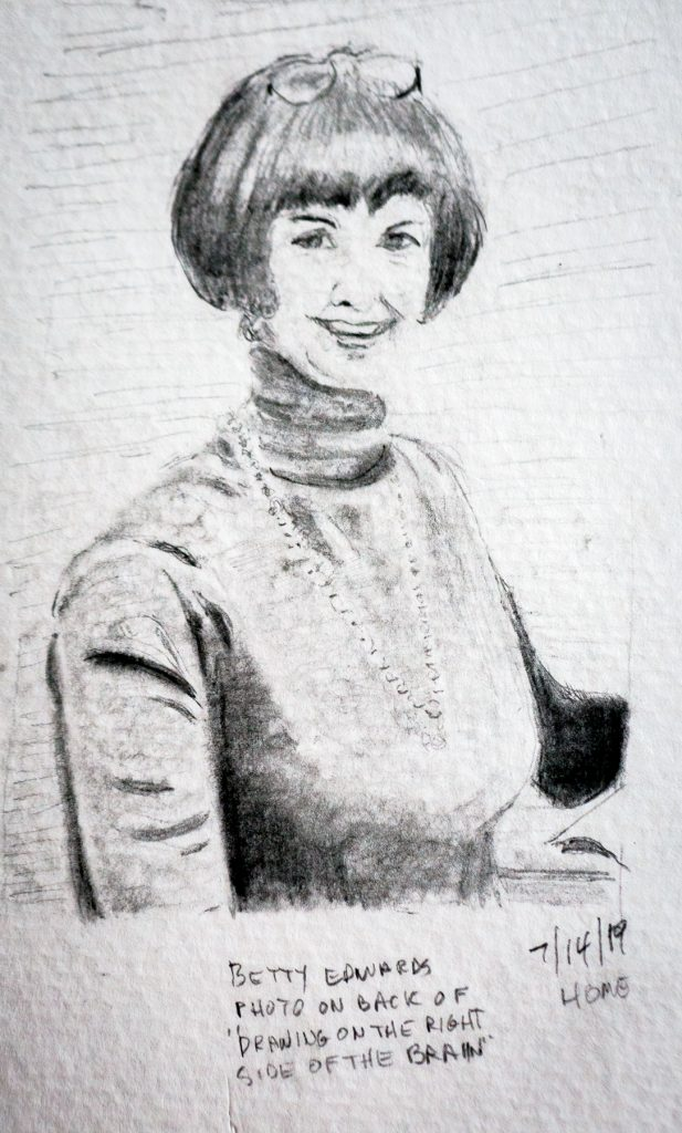 Betty Edwards in pencil