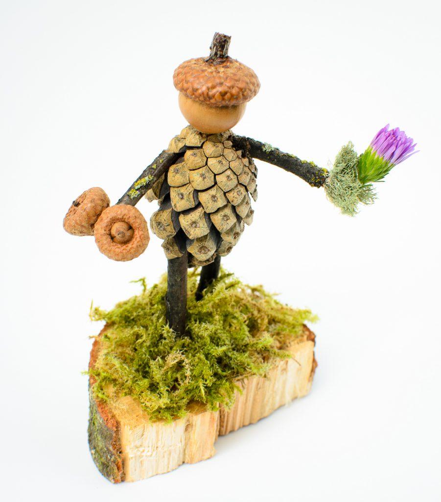 Smaller acorn/pinecone sculpture
