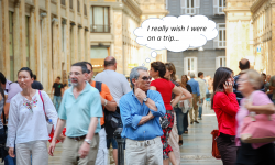 how to plan travel in uncertain times - people walking about